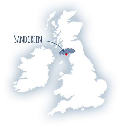 Sandgreen location map