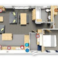 Floorplan of 2 bedroom 2018 Willerby Pinehurst lodge