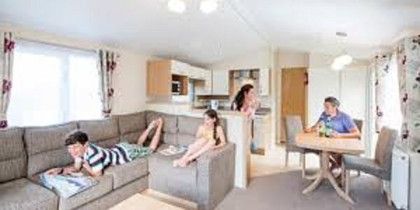 Inside a typical caravan at Sandgreen Caravan Park