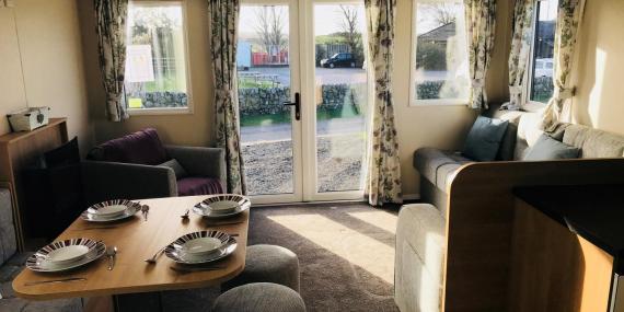 Living area in 2018 Willerby Peppy III static caravan